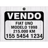 Cartel Vendo Auto - Sticker - Calco - Vinilo Autoadhesivo