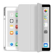 Capa Smartcase Para iPad Air 4 10.9  C/ Suporte Pencil Cinza