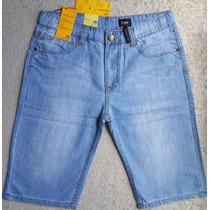 Nova Bermuda Short Jeans Fino Lee A M Original Importada
