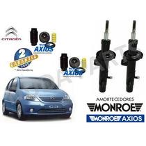 Par Amortecedor Original Monroe + Kit Axios Diant Citroen C3