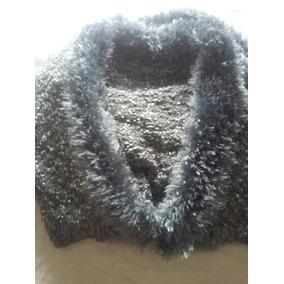 Saco Tejido Lana Y Pelo Mujer Pulover Importado Abrigo Capa