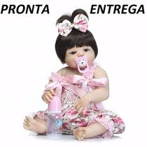 Bebê Reborn Menina Boneca 100% Silicone. Pronta Entrega!