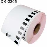 1 Rolo Etiqueta Brother Dk - 2205 Compatível Envio Rápido