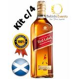 Whisky Red Label Jw 1lt Cx C/4 Original