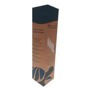Caja Con 100 Popotes Biodegradables Ecologicos De Papel
