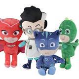 Set 4 Peluches Pj Mask (heroes En Pijama) 20 A 25 Cm $18000