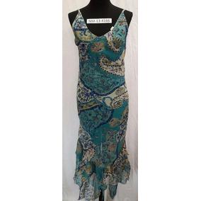 Vestido De Gasa Estampado Largo (art13-4166)