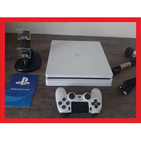 Playstation 4 Slim Branco +06 Jogos Ps4 Bivolt + Controle