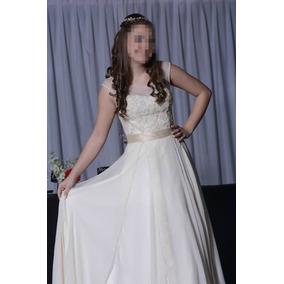 Vestido 15 Años, Novia Color Nude Falda Larga Y Corta,divino