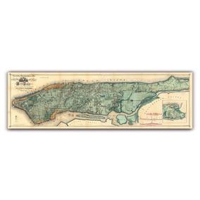Mural Decorativo Mapa Plano De New York En 1865 - Lámina Map