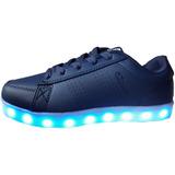Promo Zapatillas Azules Con Luces Recargables Usb Unisex
