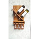 Adega De Vinhos De Madeira Barzinho Decorativa Porta Taças