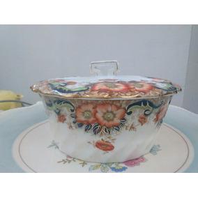 Bombonera, Caramelera De Porcelana Inglesa
