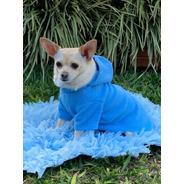 Capa Azul Com Capuz Para Pet - Roupas Para Cães