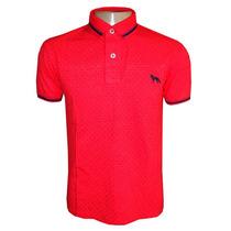 Camisa Polo Acostamento Vermelha Bolinha Original