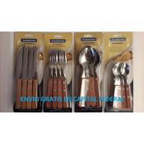 12 Cuchillos 12 Tenedores12 Cucharitas Tramontina Dynamic