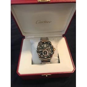 Reloj Cartier Calibre Oro Y Acero Full Set