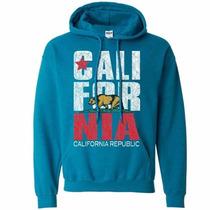 California Con Capucha Azul Aqua Talla Xxl