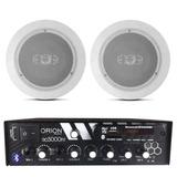 Kit Som Ambiente C/ Amplificador 300 Watts+2 Caixas P/ Gesso