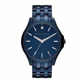 Reloj Ax Ax2184 Diamond Metal Azul Original Para Caballero*