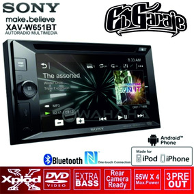 Radio Sony Xav-w651bt Doble Din Pantalla 6,2