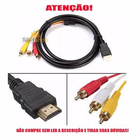 Cabo Conversor Transmissor Adaptador Hdmi Para Avi / 3 Rca