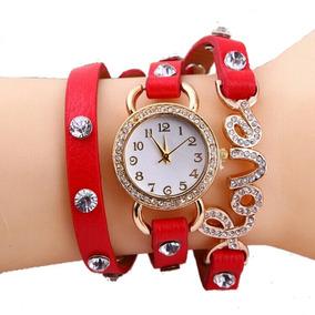 Relógio Bracelete Love Lindo Barato