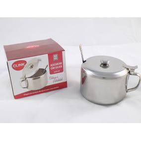 Açucareiro Inox Mini 450ml Clink Utilidade Cozinha Casa *