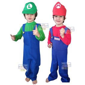 Disfraz Mario Bross Luigi Tallas 4 A 10 Guante Envíos Gratis