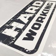 Emblema Strada Hard Working 2018/19 Adesivo Modelo Original
