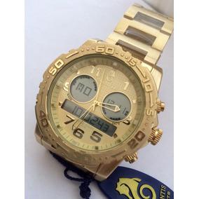 Relógio Atlantis A3228 Rip Curl Todo Dourado