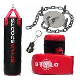 Saco De Pancada 120x100+luva+brinde+suporte - Stylo Sport