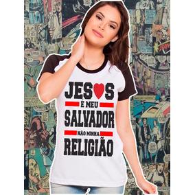 Camiseta Feminina Raglan Gospel Religião,