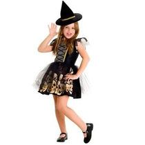 Disfraz Halloween Halowen Brujita Calavera Nena Children´s