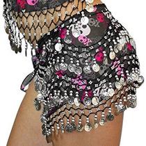 Disfraz Danza Del Vientre Hip Bufanda Del Cráneo Del Pirata