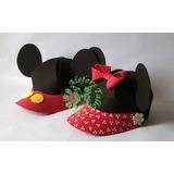 06 Gorras En Foami, Minnie Y Mickey, Cotillones, Fiestas...