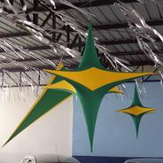 Estrela De Decoração 1,20 Cm² (várias Cores)
