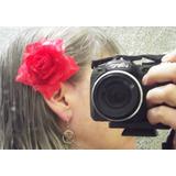 10 Rosas De Cabelos - Presilhas Enfeites Flores Artificiais