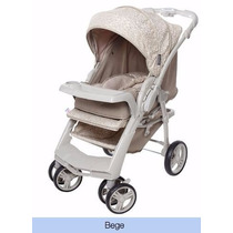 Carrinho Bebê Reversível Berço Galzerano Optimus Bege