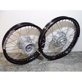 Roda Dianteira + Traseira Bros 125/150 Aro Alumínio Montada