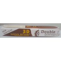 Máscara Para Cílios 3d Double Extension Com Primer Miss Rose
