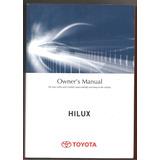 Manual Propietario Toyota Hilux Fisico En Ingles 2013