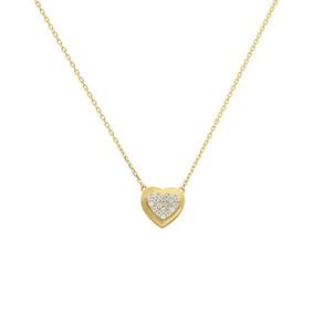 Gargantilla De Oro Amarillo 14k Con Zirconias-2tn00061