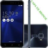 Promoção Smartphone Asus Zenfone 3 Ze520kl 32gb Preto+capa