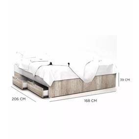 Cama 2 Plazas Multifuncion 1.40 X 1.90 4 Caj. Dakar 462580
