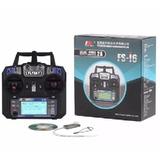 Rádio Transmissor 6 Canais Fly Sky Fs I6 Com Receptor Modo2