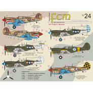 Decal Fcm 72024 Avião Curtiss P-40 1/72 Plastimodelismo