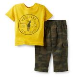 Carters 2 Piezas Remera Y Pantalon Camuflado- Niño