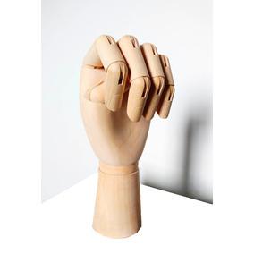 Mão Modelo De Madeira Articulada Figurativo Decoração 18 Cm