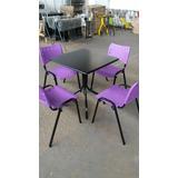 Conjunto De Mesa Com 2 Cadeiras - Restaurante Sorveteria